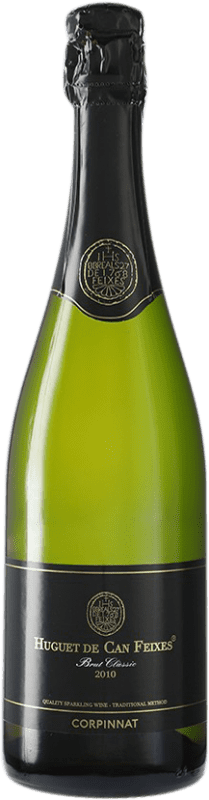 12,95 € Free Shipping | White sparkling Huguet de Can Feixes Brut Corpinnat Spain Pinot Black, Macabeo, Parellada Bottle 75 cl