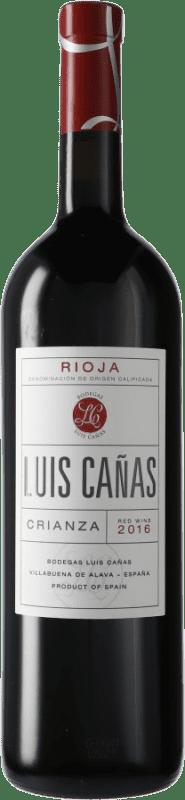 22,95 € Free Shipping | Red wine Luis Cañas Crianza D.O.Ca. Rioja Spain Tempranillo, Graciano Magnum Bottle 1,5 L