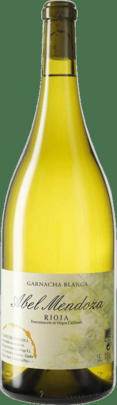 56,95 € Free Shipping | White wine Abel Mendoza D.O.Ca. Rioja Spain Grenache White Magnum Bottle 1,5 L