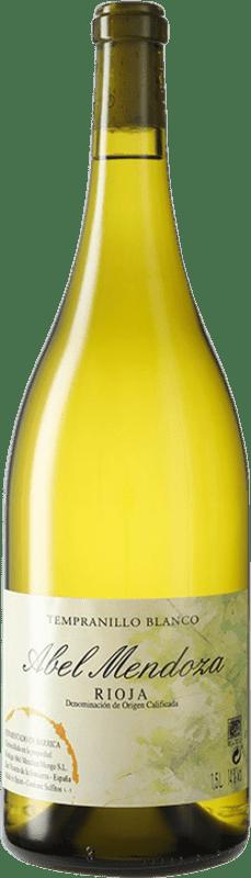 56,95 € Envoi gratuit | Vin blanc Abel Mendoza D.O.Ca. Rioja Espagne Tempranillo Blanc Bouteille Magnum 1,5 L