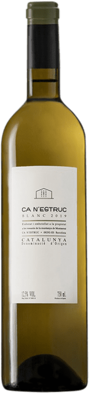 4,95 € Free Shipping | White wine Ca N'Estruc D.O. Catalunya Catalonia Spain Grenache White, Muscatel, Macabeo, Xarel·lo Bottle 75 cl