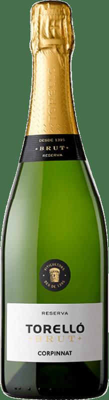 13,95 € Free Shipping | White sparkling Torelló Brut Reserva Corpinnat Spain Macabeo, Xarel·lo, Parellada Bottle 75 cl