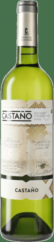 6,95 € Envío gratis | Vino blanco Castaño D.O. Yecla España Botella 75 cl