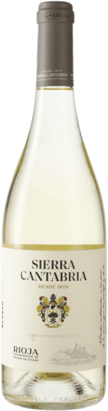9,95 € Free Shipping | White wine Sierra Cantabria D.O.Ca. Rioja Spain Viura, Malvasía, Sauvignon White Bottle 75 cl