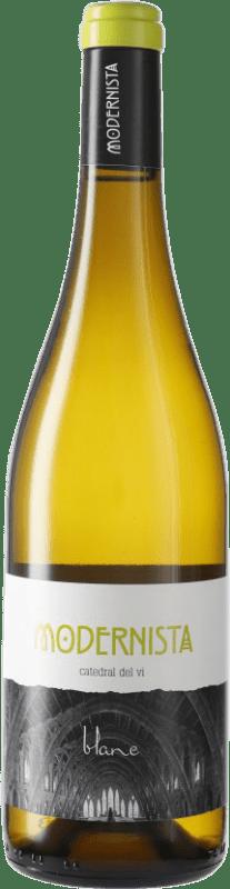 7,95 € Free Shipping | White wine Pagos de Híbera Modernista Blanc D.O. Terra Alta Catalonia Spain Bottle 75 cl
