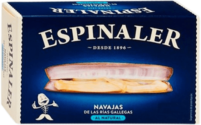 9,95 € Free Shipping | Conservas de Marisco Espinaler Navajas al Natural Spain 6/8 Pieces