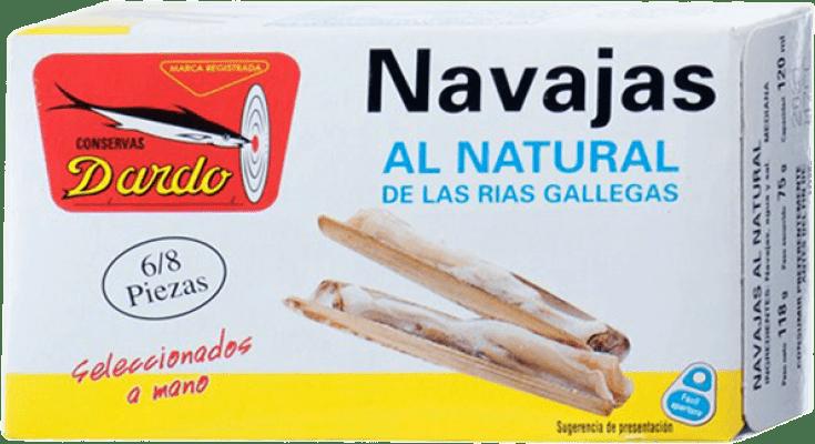 6,95 € Envoi gratuit | Conservas de Marisco Dardo Navajas al Natural Espagne 6/8 Pièces