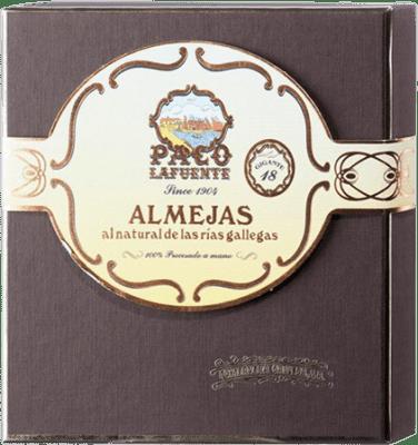 173,95 € Free Shipping | Conservas de Marisco Conservera Gallega Paco Lafuente Almejas Gigantes al Natural Galicia Spain 18 Pieces