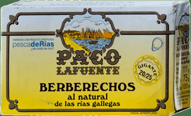 21,95 € Envoi gratuit | Conservas de Marisco Conservera Gallega Paco Lafuente Berberechos al Natural Galice Espagne 20/25 Pièces