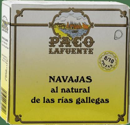 11,95 € Free Shipping | Conservas de Marisco Conservera Gallega Paco Lafuente Navajas Galicia Spain 8/10 Pieces