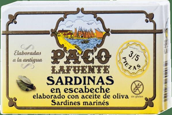 3,95 € Envoi gratuit | Conservas de Pescado Conservera Gallega Paco Lafuente Sardina en Escabeche Galice Espagne 3/5 Pièces