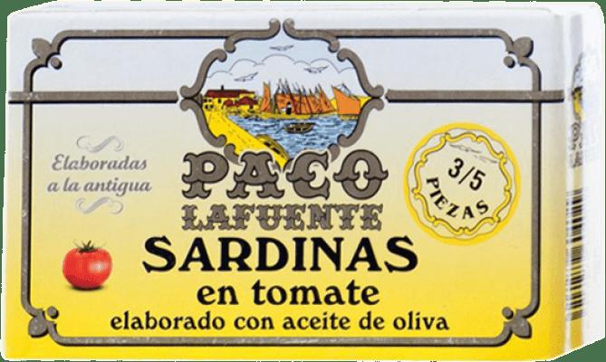 2,95 € Envoi gratuit | Conservas de Pescado Conservera Gallega Paco Lafuente Sardina en Tomate Galice Espagne 3/5 Pièces