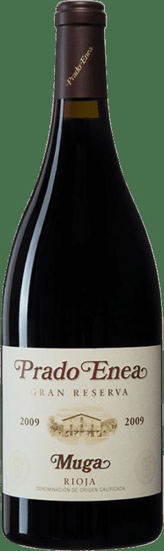 106,95 € Envío gratis | Vino tinto Muga Prado Enea Gran Reserva 2009 D.O.Ca. Rioja España Tempranillo, Garnacha, Graciano, Mazuelo Botella Mágnum 1,5 L
