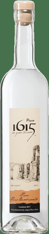 21,95 € 免费送货 | Pisco Pisco 1615 Puro Quebranta 秘鲁 瓶子 70 cl