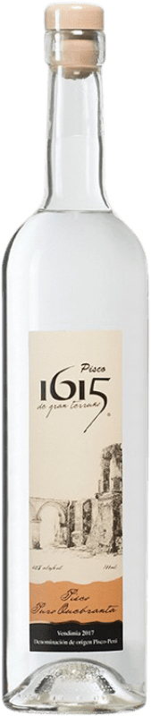 21,95 € Free Shipping | Pisco Pisco 1615 Puro Quebranta Peru Bottle 70 cl