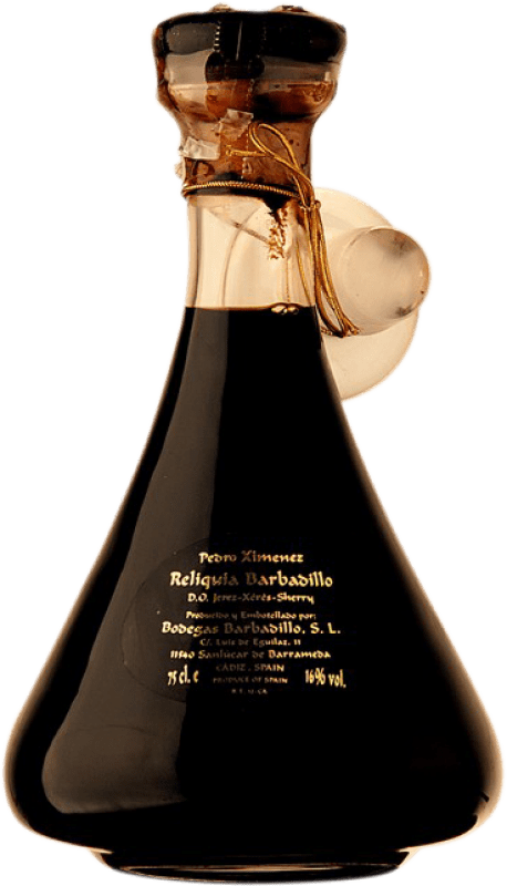 1 054,95 € Free Shipping | Fortified wine Barbadillo Reliquia D.O. Jerez-Xérès-Sherry Andalusia Spain Pedro Ximénez Bottle 75 cl