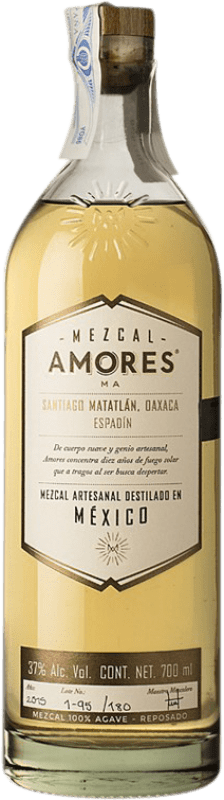 53,95 € 免费送货   梅斯卡尔酒 Amores Reposado Espadín 墨西哥 瓶子 70 cl