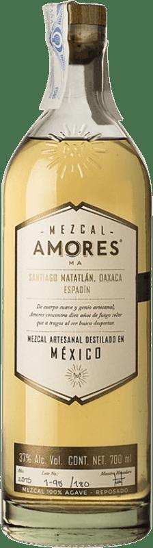 53,95 € Envío gratis | Mezcal Amores Reposado Espadín Mexico Botella 70 cl