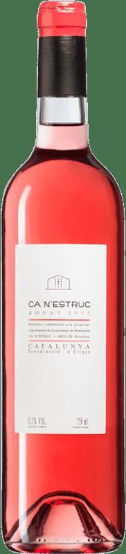 4,95 € 免费送货   玫瑰酒 Ca N'Estruc Rosat D.O. Catalunya 加泰罗尼亚 西班牙 瓶子 75 cl
