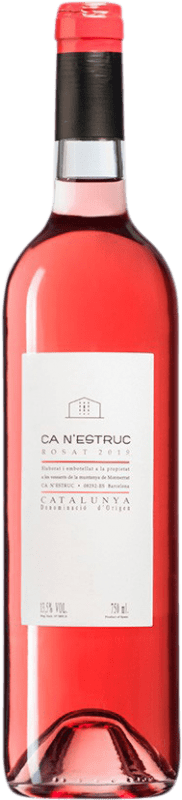 4,95 € Free Shipping | Rosé wine Ca N'Estruc Rosat D.O. Catalunya Catalonia Spain Bottle 75 cl