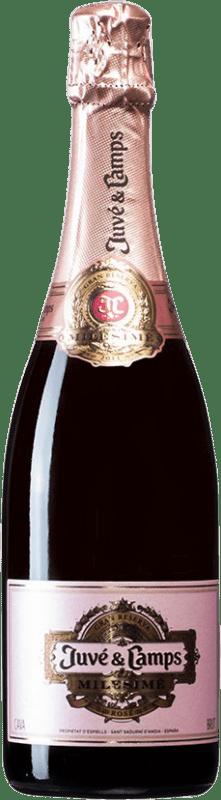 37,95 € | Rosé sparkling Juvé y Camps Rosé Milesimé Brut D.O. Cava Spain Chardonnay Bottle 75 cl