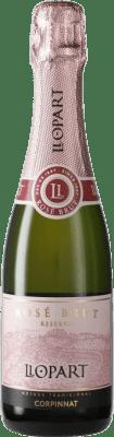 7,95 € Free Shipping | Rosé sparkling Llopart Rosé Brut Reserva Corpinnat Spain Grenache, Monastrell, Pinot Black Half Bottle 37 cl
