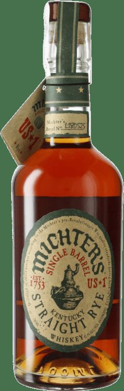 62,95 € 免费送货   波旁酒 Michter's American Single Barrel Rye 肯塔基 美国 瓶子 70 cl