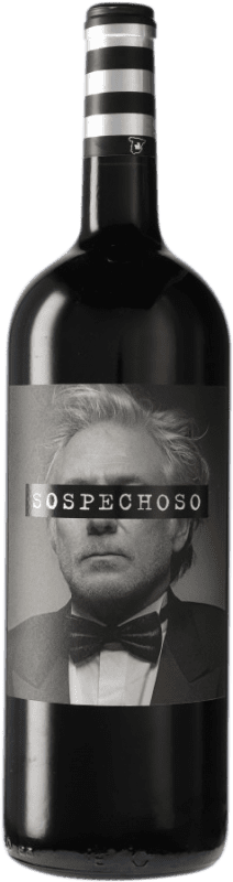 14,95 € Free Shipping | Red wine Uvas Felices Sospechoso I.G.P. Vino de la Tierra de Castilla Castilla la Mancha Spain Tempranillo, Tinta de Toro Magnum Bottle 1,5 L