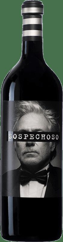 84,95 € Free Shipping | Red wine Uvas Felices Sospechoso I.G.P. Vino de la Tierra de Castilla Castilla la Mancha Spain Special Bottle 5 L