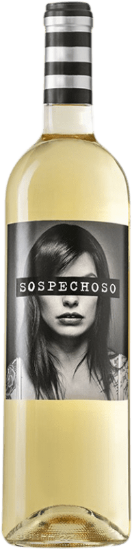 7,95 € Free Shipping | White wine Uvas Felices Sospechoso I.G.P. Vino de la Tierra de Castilla Castilla la Mancha Spain Bottle 75 cl