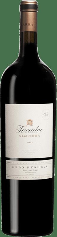 329,95 € Envío gratis | Vino tinto Vizcarra Torralvo Gran Reserva D.O. Ribera del Duero Castilla y León España Tempranillo Botella Mágnum 1,5 L