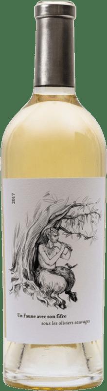 56,95 € Free Shipping | White wine Le Clos des Fées Un Faune avec Son Fifre Sous les Oliviers Sauvages Blanc A.O.C. Côtes du Roussillon Languedoc-Roussillon France Sémillon Bottle 75 cl