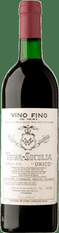 599,95 € | Red wine Vega Sicilia Único Gran Reserva 1973 D.O. Ribera del Duero Castilla y León Spain Tempranillo, Merlot, Cabernet Sauvignon Bottle 75 cl