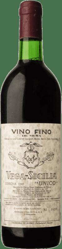 691,95 € | Red wine Vega Sicilia Único Gran Reserva 1969 D.O. Ribera del Duero Castilla y León Spain Tempranillo, Merlot, Cabernet Sauvignon Bottle 75 cl