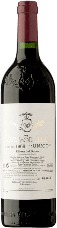 2 049,95 € 免费送货 | 红酒 Vega Sicilia Único Gran Reserva 1968 D.O. Ribera del Duero 卡斯蒂利亚莱昂 西班牙 Tempranillo, Merlot, Cabernet Sauvignon 瓶子 75 cl