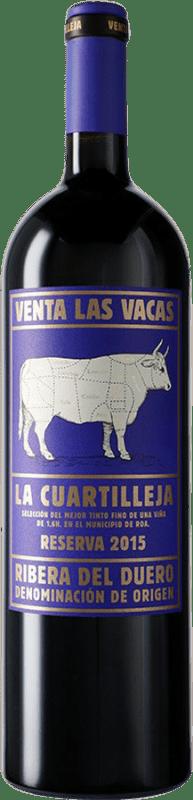 82,95 € Free Shipping | Red wine Vizcarra Venta las Vacas Finca La Cuartilleja Reserva D.O. Ribera del Duero Castilla y León Spain Tempranillo Magnum Bottle 1,5 L
