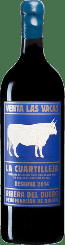 158,95 € 免费送货 | 红酒 Vizcarra Venta las Vacas Finca La Cuartilleja Reserva D.O. Ribera del Duero 卡斯蒂利亚莱昂 西班牙 Tempranillo 瓶子 Jéroboam-双Magnum 3 L
