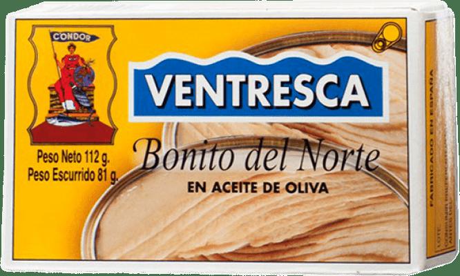 12,95 € 免费送货 | Conservas de Pescado Condor Ventresca de Bonito del Norte en Aceite de Oliva 西班牙