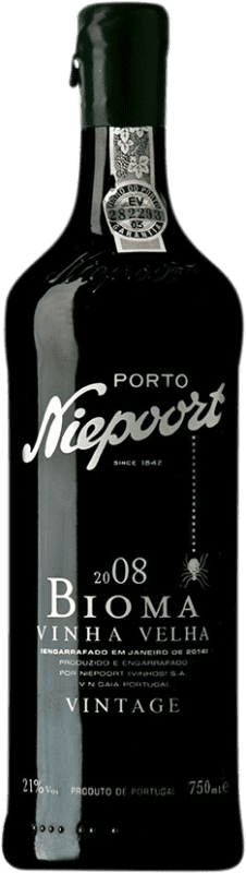 94,95 € Free Shipping | Red wine Niepoort Vintage Bioma Port 2008 I.G. Porto Porto Portugal Touriga Franca, Touriga Nacional, Tinta Roriz Bottle 75 cl