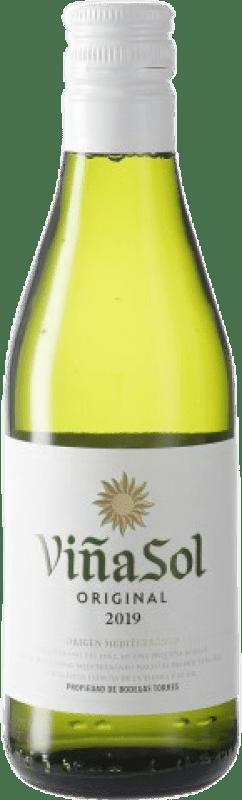 1,95 € Free Shipping   White wine Torres Viña Sol D.O. Penedès Catalonia Spain Parellada Small Bottle 18 cl